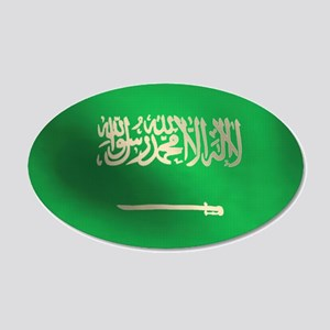 Flag of Saudi Arabia 22x14 Oval Wall Peel