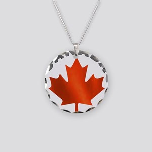 Canadian Maple Leaf Necklace Circle Charm