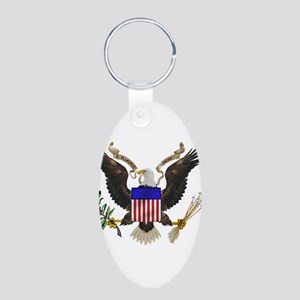 Great Seal Eagle Aluminum Oval Keychain