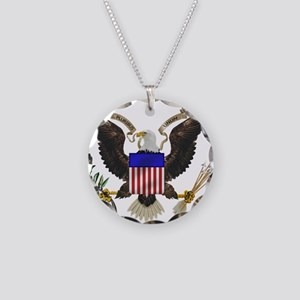 Great Seal Eagle Necklace Circle Charm