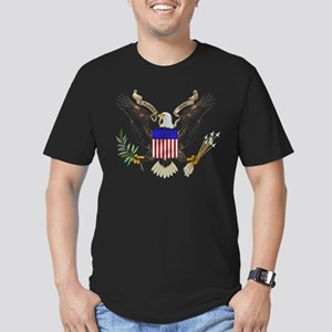 Great Seal Eagle Men's Fitted T-Shirt (dark)