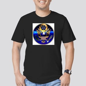 US Seal Drinkware Men's Fitted T-Shirt (dark)