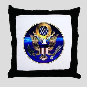 US Seal Drinkware Throw Pillow