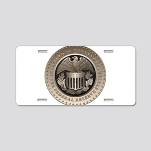 The Federal Reserve Aluminum License Plate