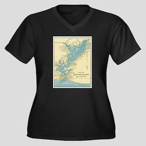 Vintage Map of Santiago de Cuba Plus Size T-Shirt