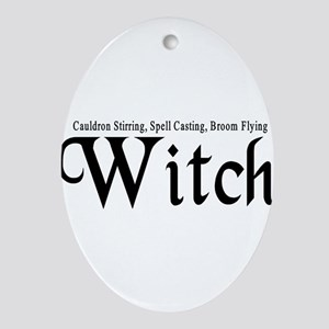 Witch Ornament (Oval)