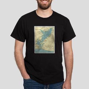 Vintage Map of Santiago de Cuba (1898) T-Shirt