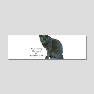 Guard Cat Car Magnet 10 x 3