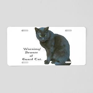 Guard Cat Aluminum License Plate