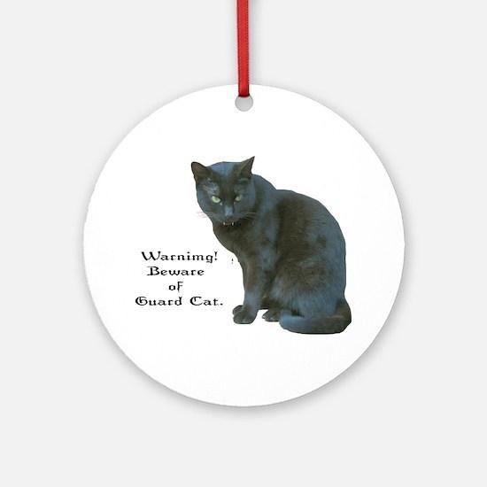 Guard Cat Ornament (Round)