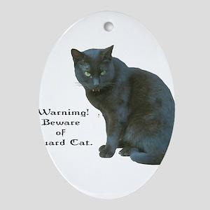 Guard Cat Ornament (Oval)