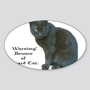 Guard Cat Sticker (Oval)