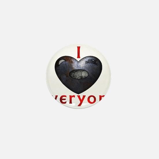 I Heart Everyone Mini Button