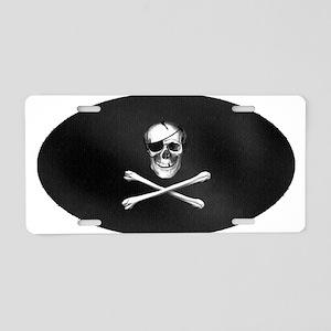 Pirate Patch Aluminum License Plate
