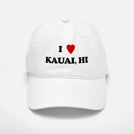 I Love Kauai Baseball Baseball Cap