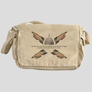 Finger pointer Messenger Bag