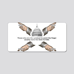 Finger pointer Aluminum License Plate