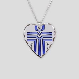 Presbyterian Cross Necklace Heart Charm