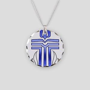 Presbyterian Cross Necklace Circle Charm
