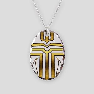 Presbyterian Cross Necklace Oval Charm