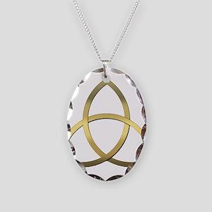 Trinity Necklace Oval Charm