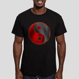 Tao in Red & Black Men's Fitted T-Shirt (dark)