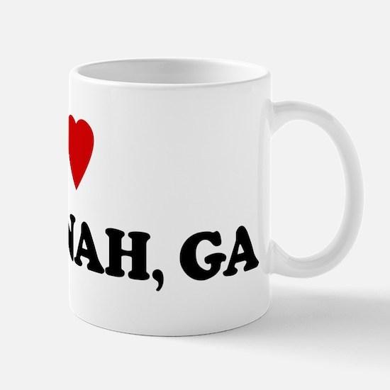 I Love Savannah Mug