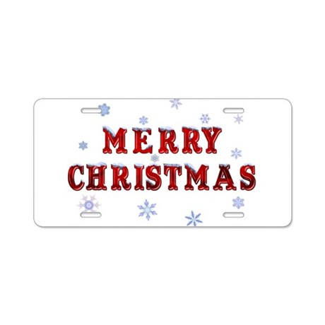 Merry Christmas Aluminum License Plate