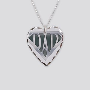 Super Dad Necklace Heart Charm