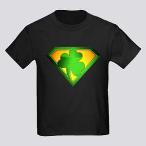 Super Shamrock Kids Dark T-Shirt
