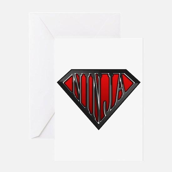 Super Ninja(Black) Greeting Card
