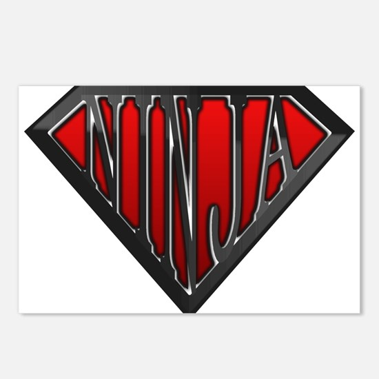 Super Ninja(Black) Postcards (Package of 8)