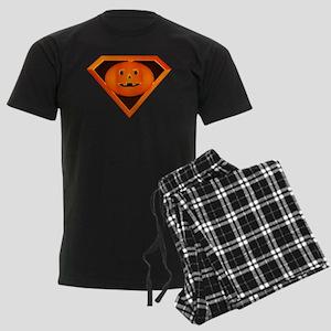 Super Pumpkin Men's Dark Pajamas