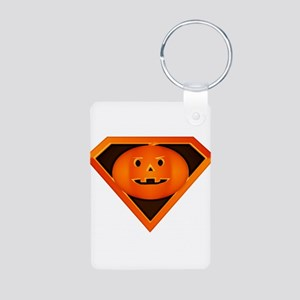Super Pumpkin Aluminum Photo Keychain