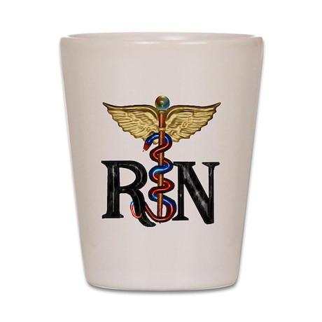 Registered Nurse Caduceus Shot Glass