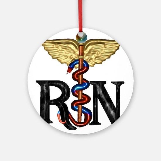 Registered Nurse Caduceus Ornament (Round)