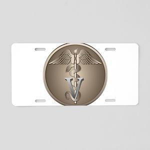 Veterinary Caduceus Aluminum License Plate