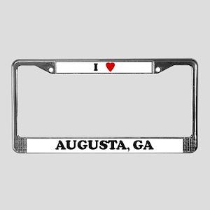 I Love Augusta License Plate Frame