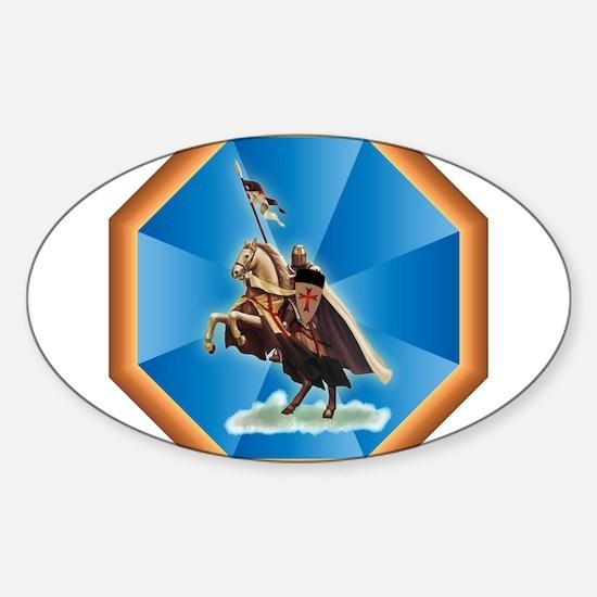 Knight Templar Sticker (Oval)