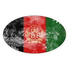 Afghanistan Flag Sticker (Oval)
