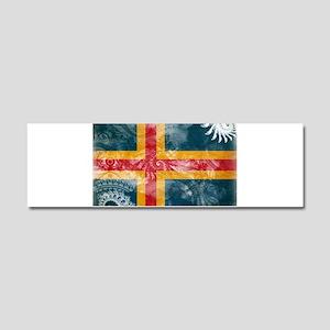 Aland Flag Car Magnet 10 x 3