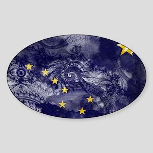 Alaska Flag Sticker (Oval)