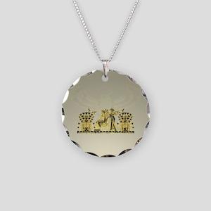 Horus Rising - Necklace Circle Charm