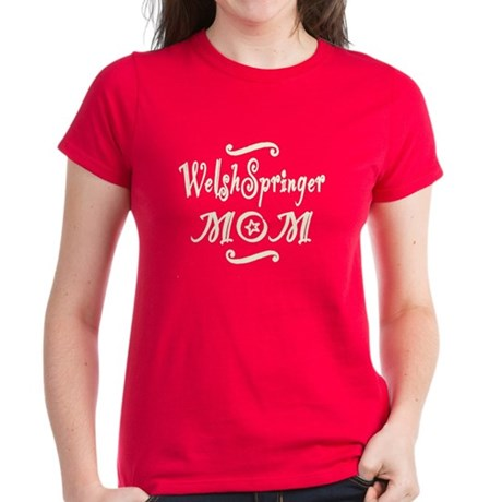 Welsh Springer MOM Women's Dark T-Shirt