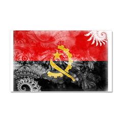 Angola Flag Car Magnet 20 x 12