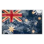 Australia Flag Sticker (Rectangle 50 pk)
