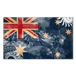Australia Flag Sticker (Rectangle 10 pk)