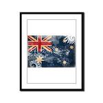 Australia Flag Framed Panel Print