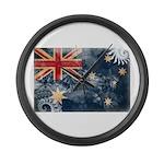 Australia Flag Large Wall Clock