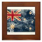 Australia Flag Framed Tile